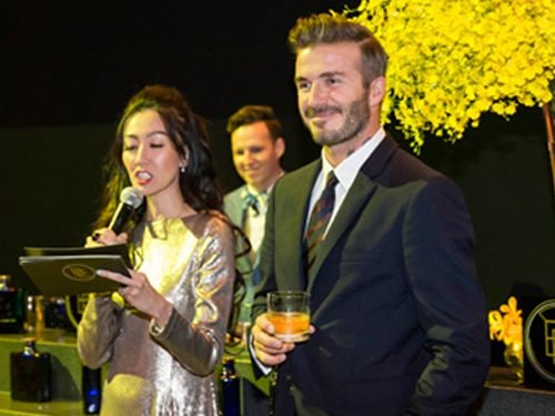 David Beckham at Artscience Musuem at Marina Bay Sands