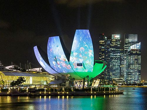 i Light projection at ArtScience Museum in Marina Bay Sands