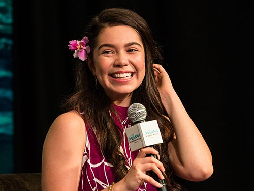 Disney star Auli'i Cravalho at Marina Bay Sands