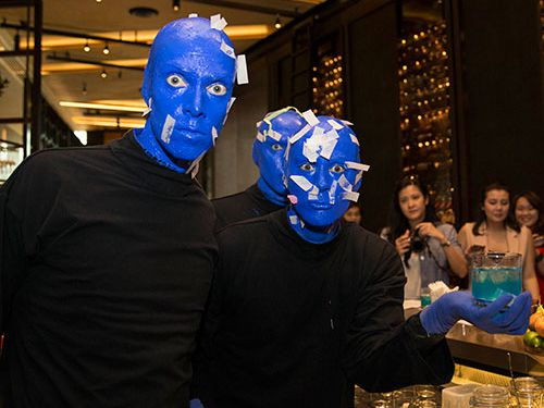Shaking Up A Storm with Chef David Myers and BLUE MAN GROUP at Marina Bay Sands