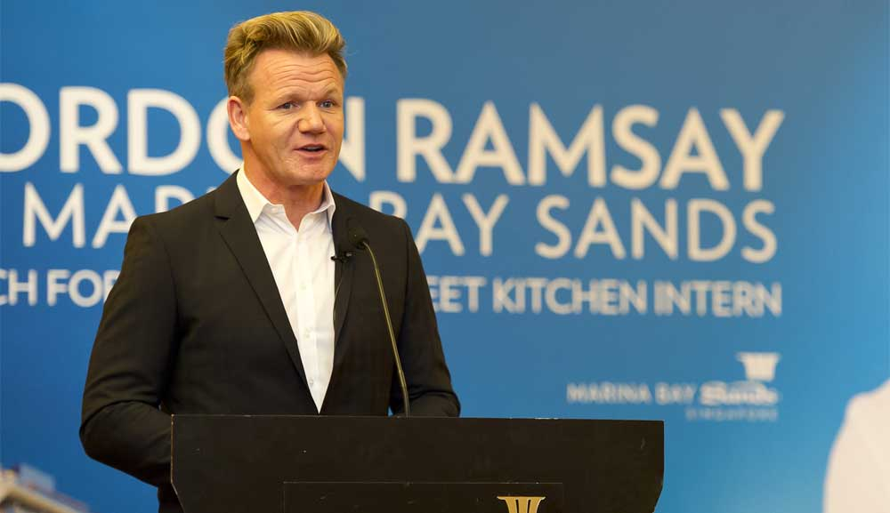 Chef Gordon Ramsay at Marina Bay Sands