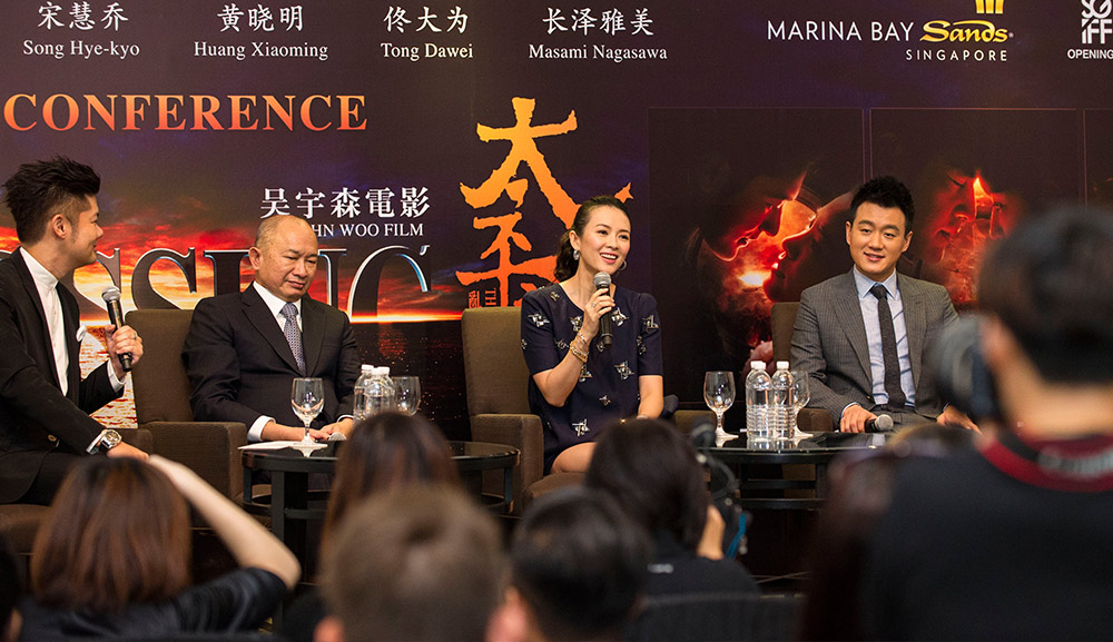 Zhang Ziyi at Marina Bay SandsThe Crossing Press Conference at Marina Bay SandsZhang Ziyi fundraising dinner at CUT in Marina Bay Sands
