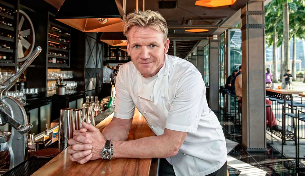 Celebrity Chef Gordon Ramsay at the Bread Street Kitchen Bar