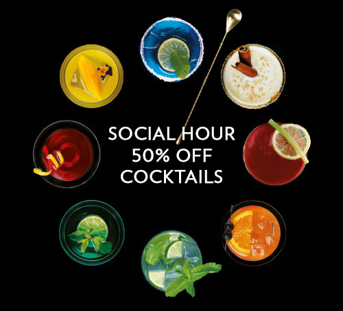 Social Hour - 50% off cocktails in Singapore