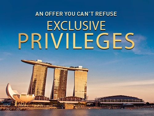 Book Direct & Enjoy Privileges at Marina Bay Sands