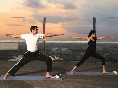 banyan-tree-fitness-sunrise-yoga at Banyan Tree Fitness Club in Singapore