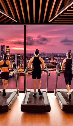 Banyan Tree Fitness Club in Marina Bay Sands