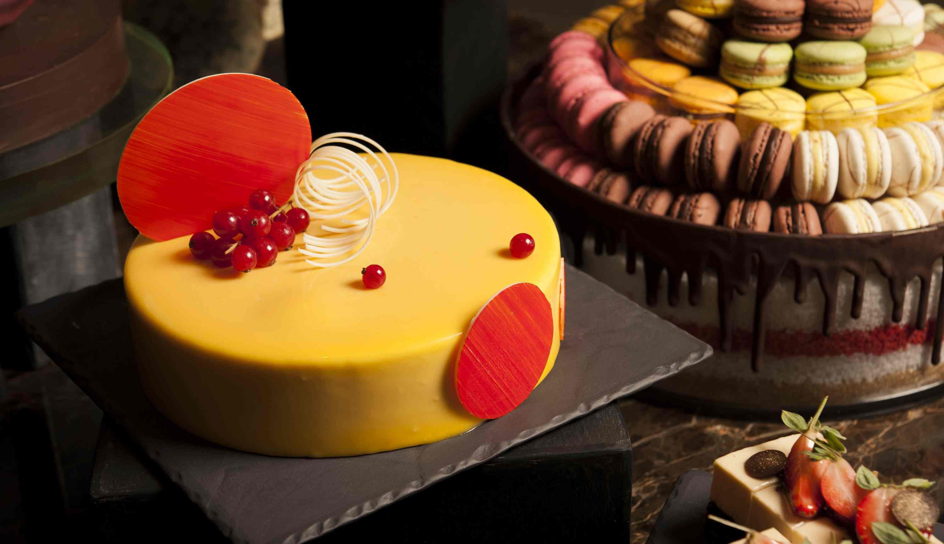 Club55 – The Cheese and Chocolate Buffet, Passion Fruit White Chocolate Mousse Cake