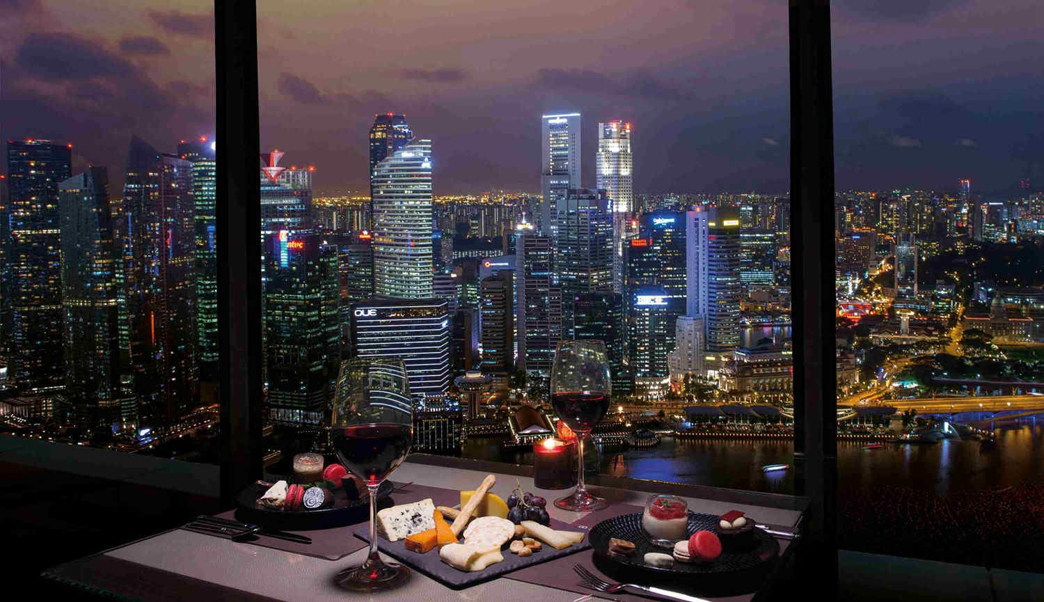 Club55 – The Cheese and Chocolate Buffet with Night View