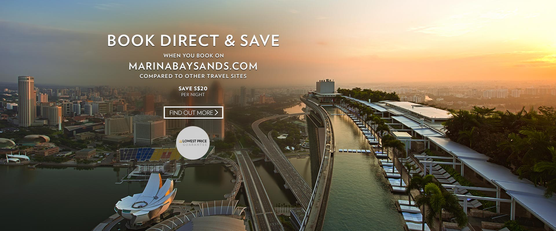 Always Save when Booking direct with Marina Bay Sands