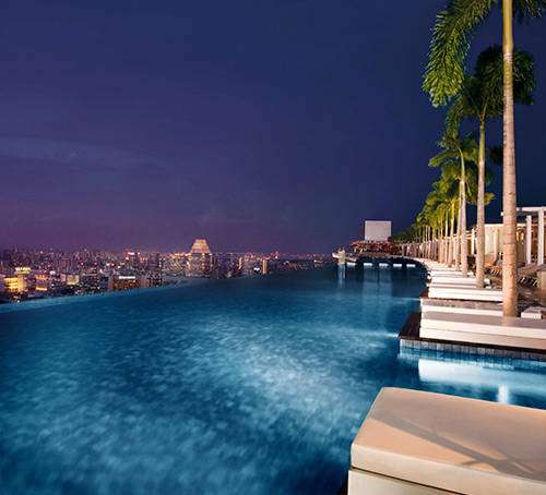 Marina bay sands infinity pool singapore - Marina Bay Sands Singapore Hotel With Infinity Pool And