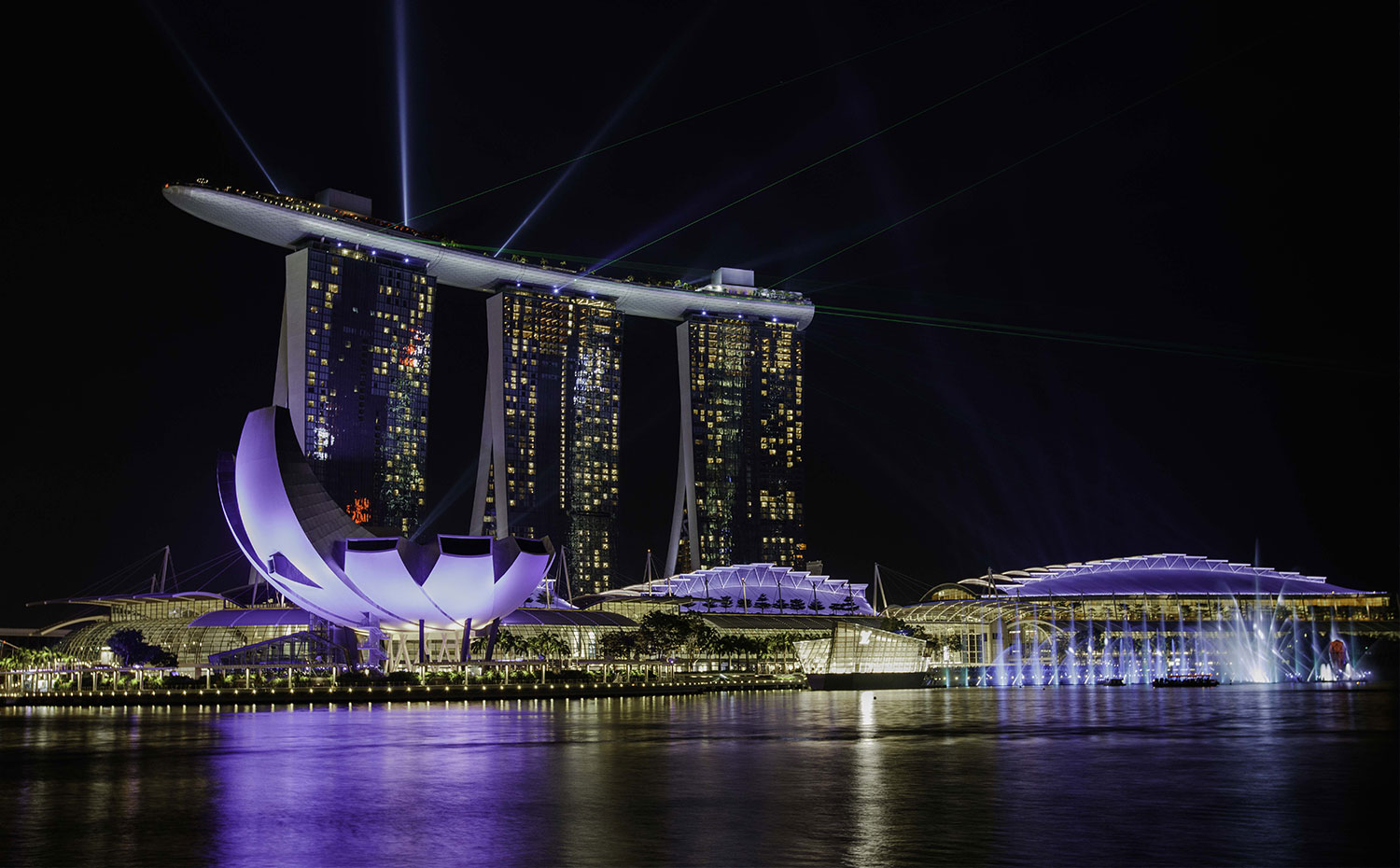 Marina Bay Sands night view - citibank-regional