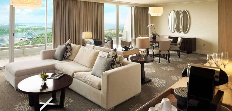 Hotel Suite Lounge at Marina Bay Sands