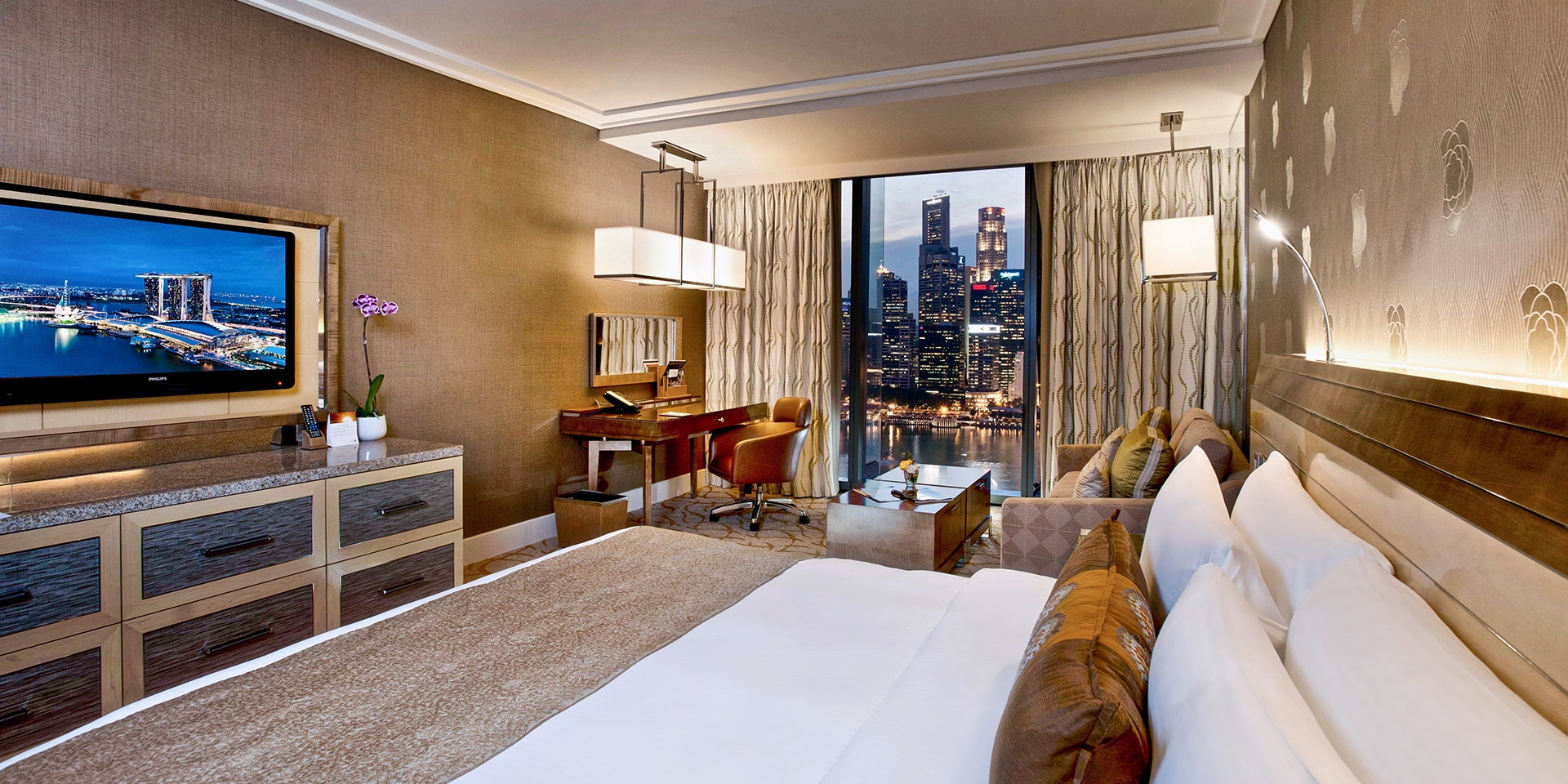 Deluxe Room In Marina Bay Sands Singapore Hotel