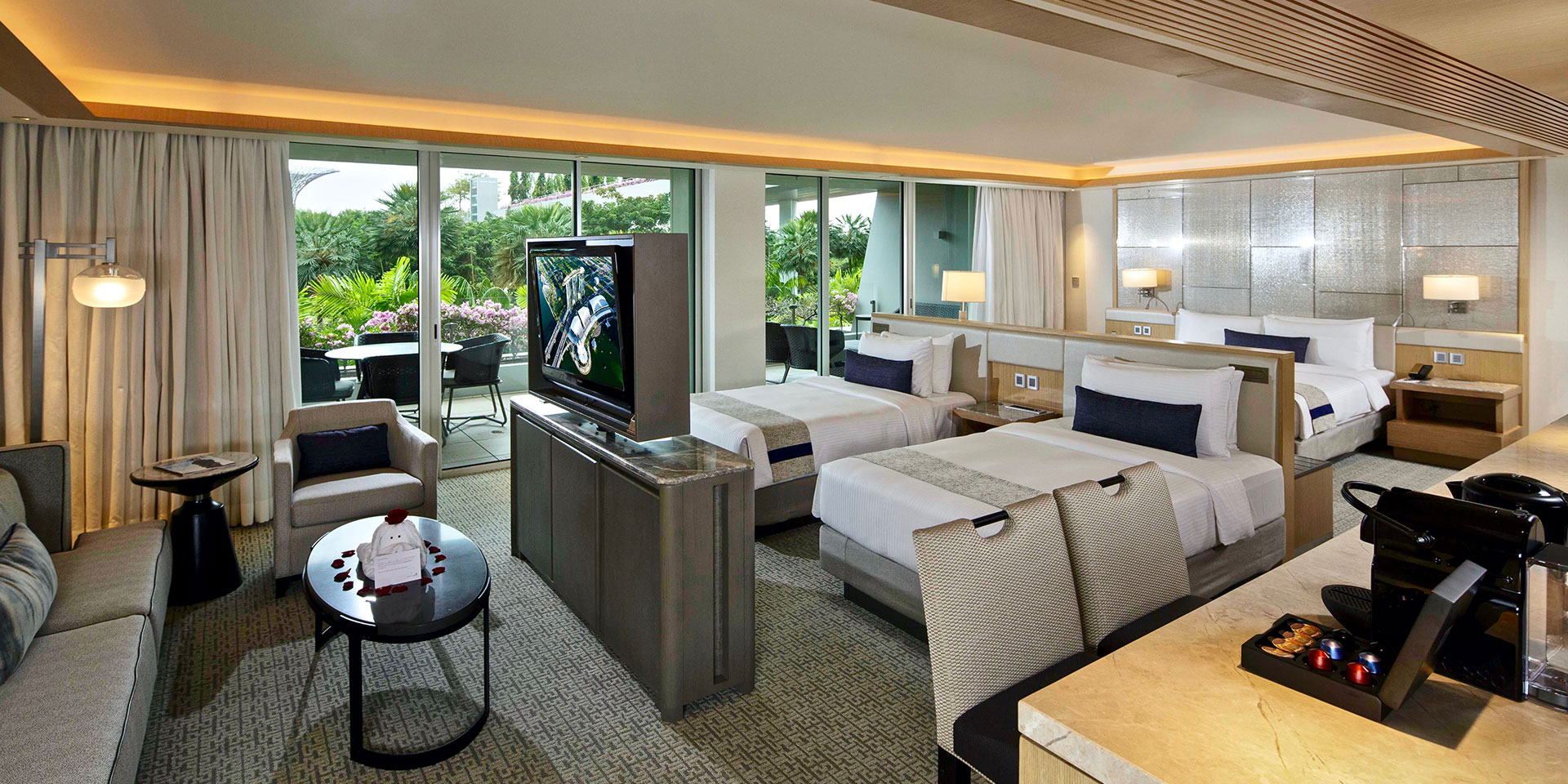 Master Suites Floor Plans Family Room In Marina Bay Sands Singapore Hotel