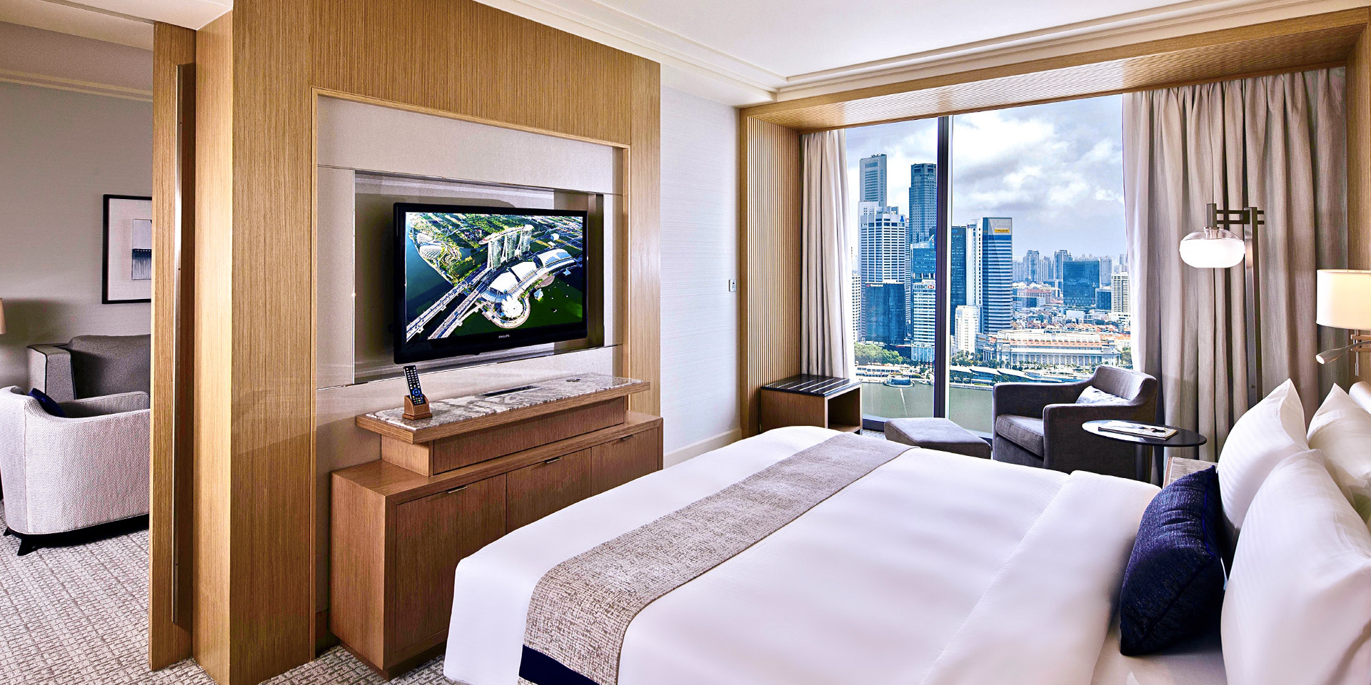 Orchid Suite Living Room with View at Marina Bay Sands
