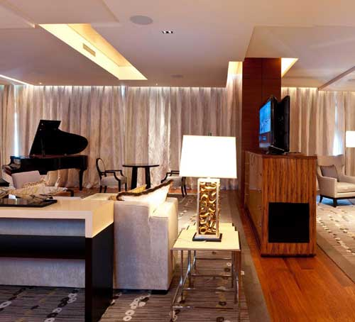 Chairman Suite of Marina Bay Sands Hotel in Singapore