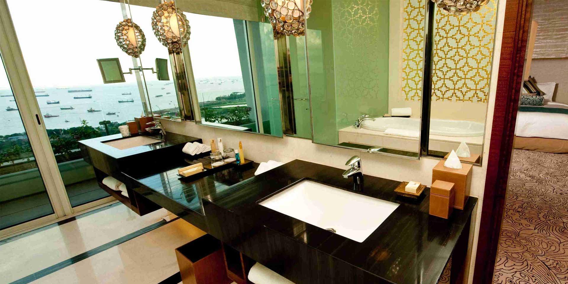 Chairman suite bathroom at marina bay sands