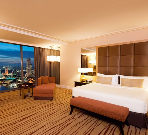 Grand Club Room of Marina Bay Sands Hotel in Singapore