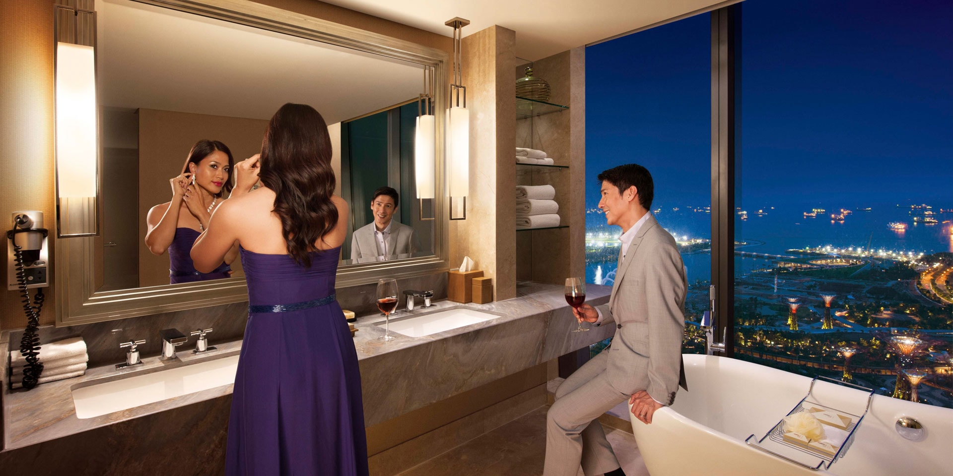 Orchard Suite Bathroom at Marina Bay Sands