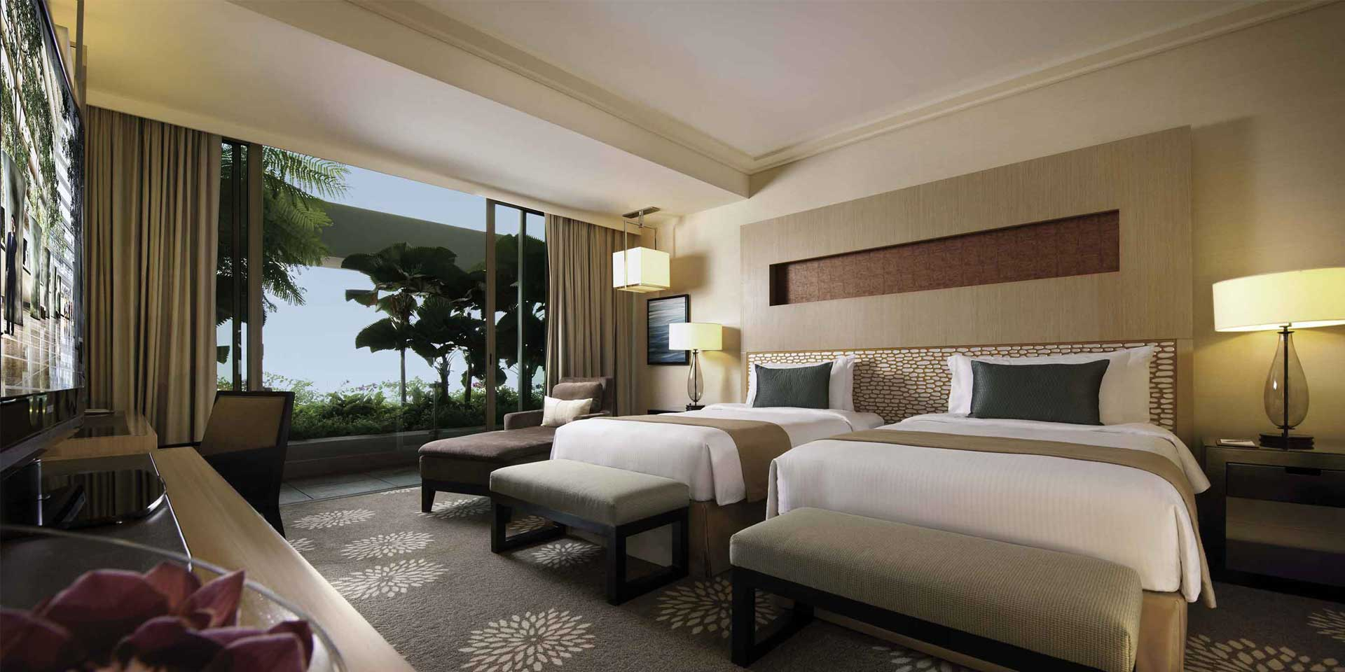 Premier room at Marina Bay Sands with Twin Beds
