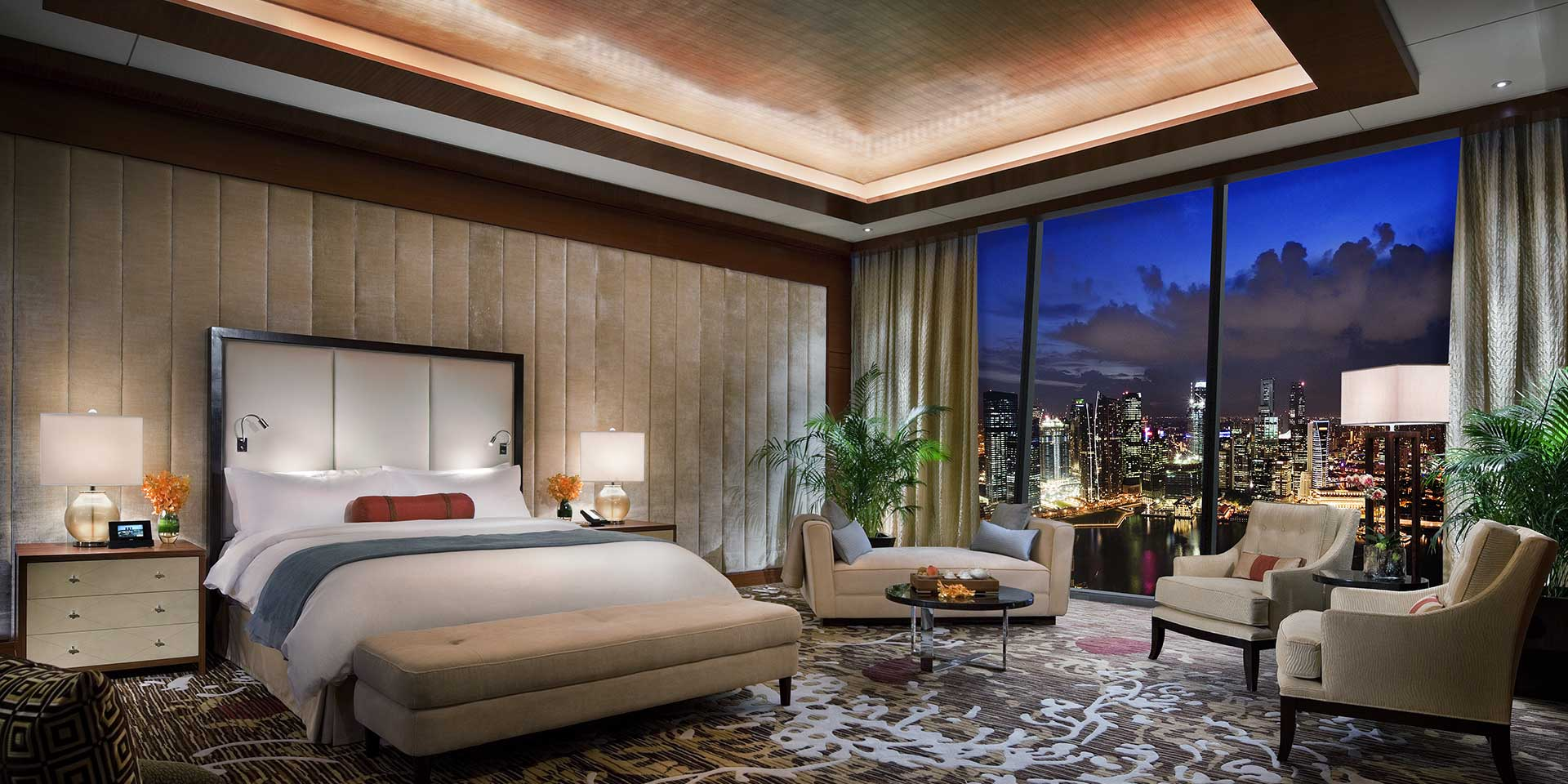 Presidential Suite Master Bedroom at Marina Bay Sands
