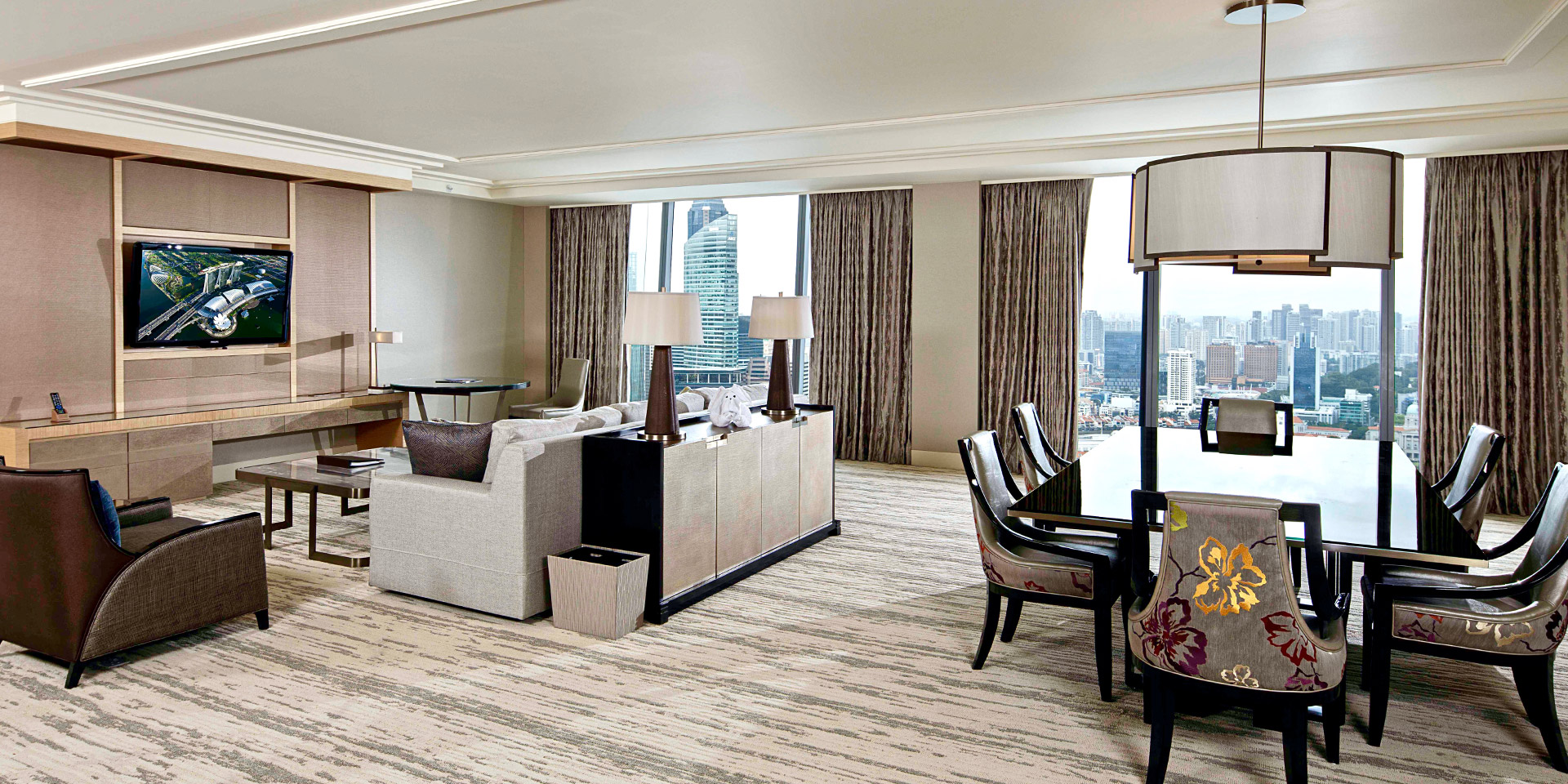 Skyline Suite Living Room at Marina Bay Sands