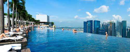 Family room in marina bay sands singapore hotel - Singapore marina bay sands pool ...