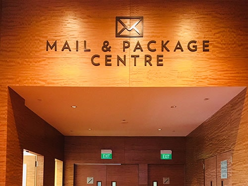 MAIL & PACKAGE - Meetings at Marina Bay Sands in Singapore