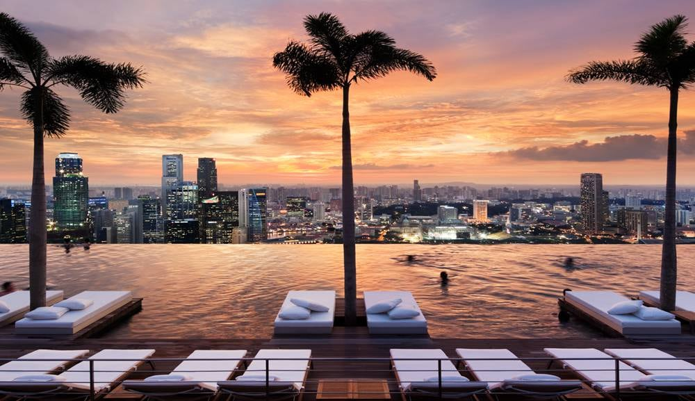 Infinity Pool at Sands SkyPark