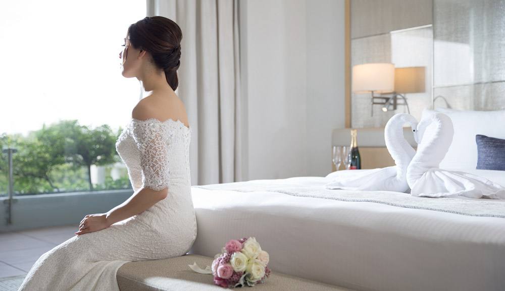 Marina bay sands convention centre wedding hairstyles