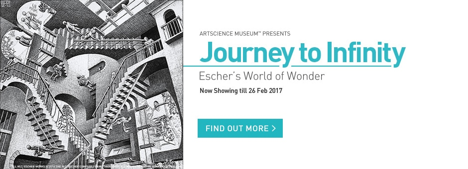 M.C. Escher Exhibition at ArtScience Museum