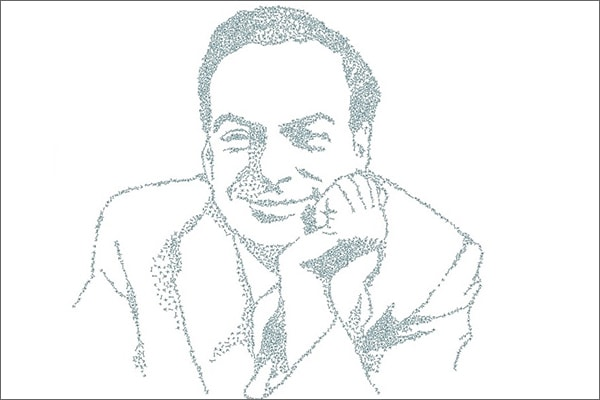Portrait illustration of Richard Feynman