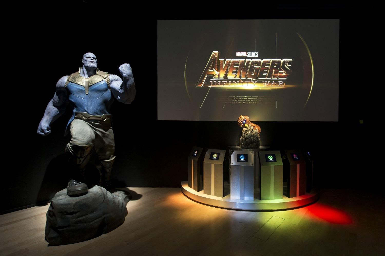 Marvel Studios: Ten Years of Heroes exhibition at ArtScience