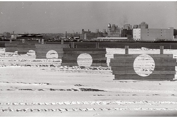Battery Park Landfill by Mary Miss (1973)