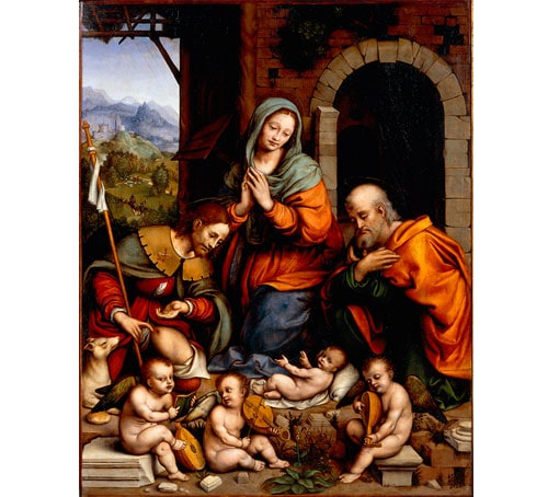 Adoration of the Child with Saint Roch by Giampietrino (Gian Pietro Rizzoli)