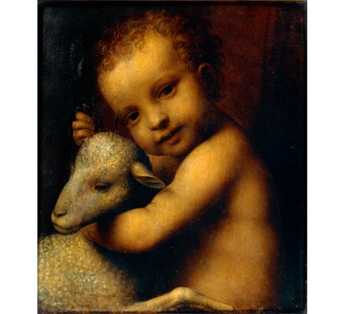 Christ Child with the Lamb by Bernardino Luini