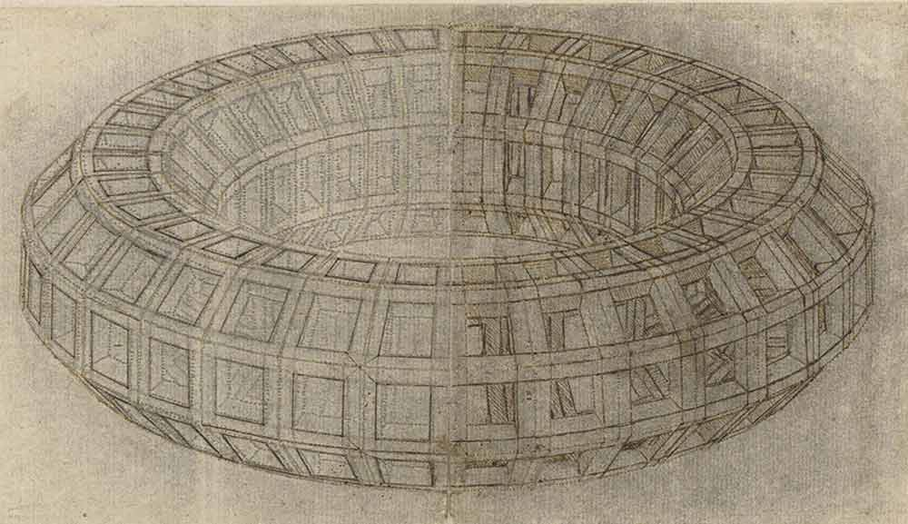 Drawing of a Mazzocchio  Circa 1510 F.710 recto  Leonardo da Vinci Codex Atlanticus