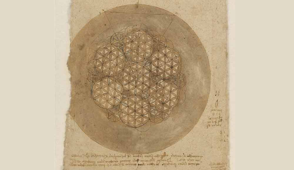 Circle in 588 Portions Circa 1517—18  F.307 verso  Leonardo da Vinci Codex Atlanticus
