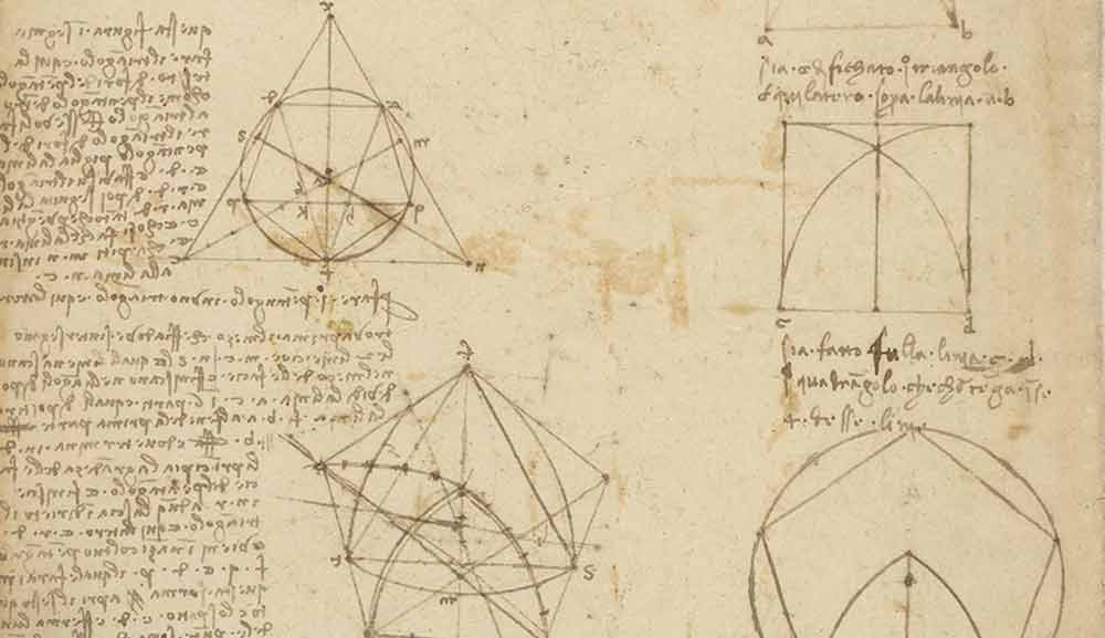 Plane Geometric Shapes Circa 1490 F.923 recto Leonardo da Vinci Codex Atlanticus