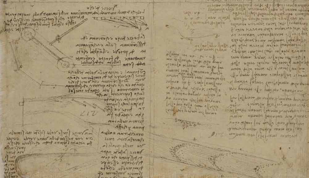 Description of an Echo  Circa 1507 F.211 verso  Leonardo da Vinci Codex Atlanticus