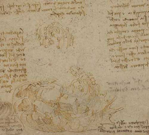 Drawing of a Flood 1516—17 F.215 recto  Leonardo da Vinci Codex Atlanticus