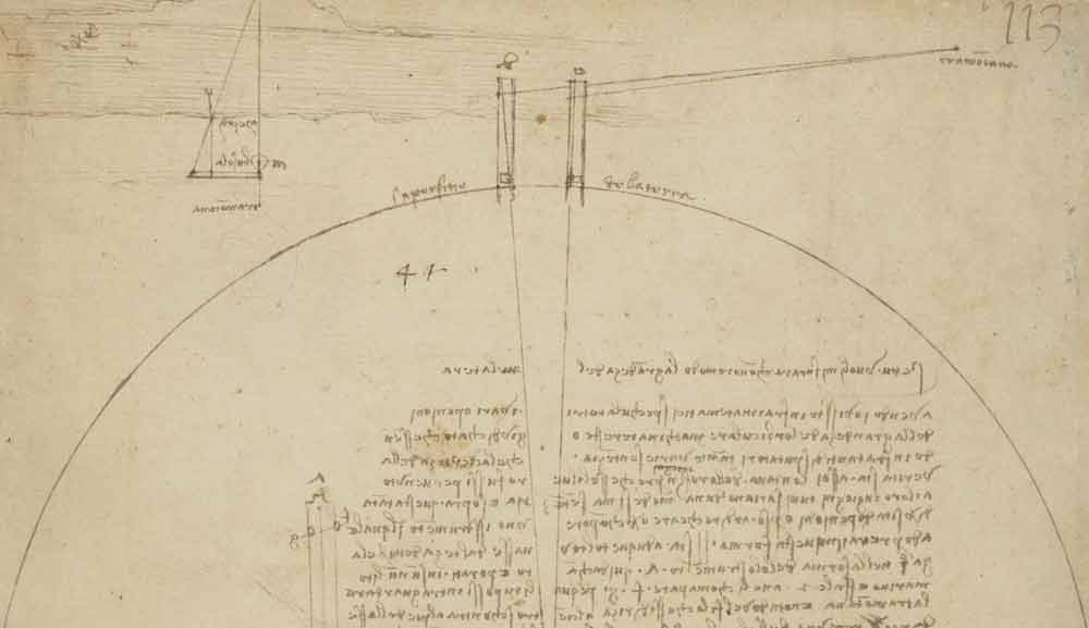 Instrument to Measure the Earth's Size 1490 F.727 recto  Leonardo da Vinci  Codex Atlanticus