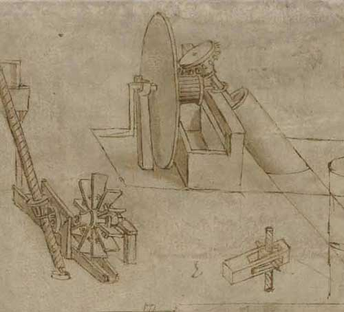 Archimedes' Screw Circa 1480  F.6 recto Leonardo da Vinci Codex Atlanticus