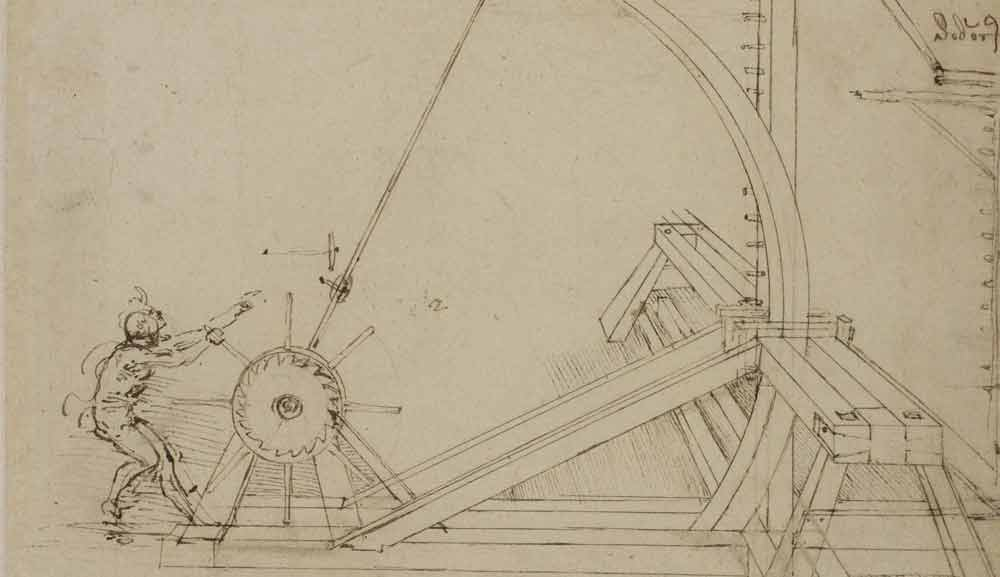 Catapult  Circa 1485—92 F.141 recto  Leonardo da Vinci Codex Atlanticus
