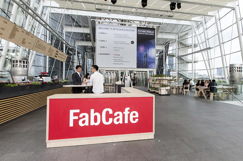 FabCafe Singapore at the ArtScience Museum Lobby