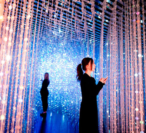 TeamLab Permanent exhibition at Art Science Museum