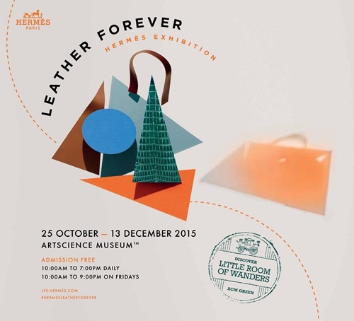 Hermès Leather Forever exhibition at ArtScience Museum
