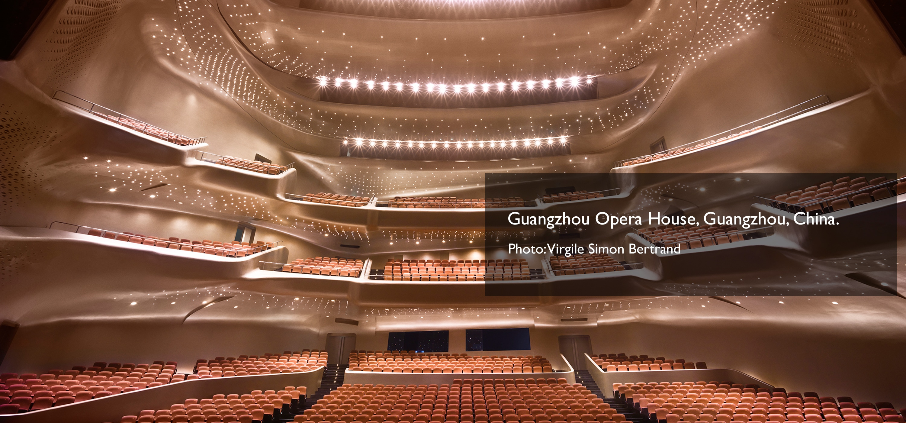 Guangzhou Opera House, Guangzhou, China. Photo: Virgile Simon Bertrand