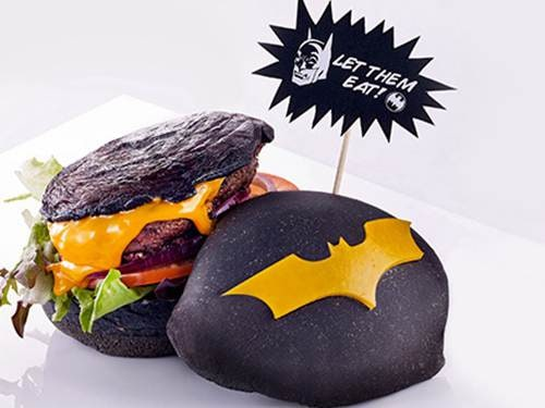 Batman Burger by DC Comics Super Heroes Cafe at Marina Bay Sands